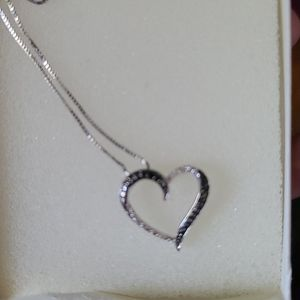 Kay Jewelers Sterling Silver heart necklace
